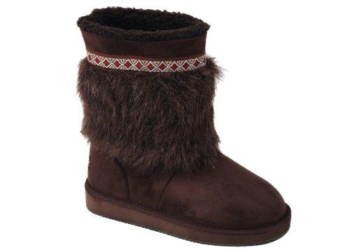 Brown Faux Suede 91002 Sunville Boots Stylish Women's New wnxCwqRt6p