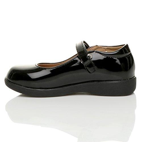 Mädchen Kleine Absatz Flach Mary Jane Formal Elegant Fesch Schuhe Größe 2 PxZoQcQQS