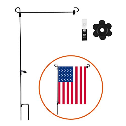Agyvvt Garden Flag Stand with Stopper and Anti-wind Clip for