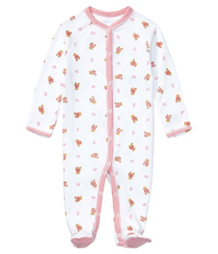 - Ralph Lauren Baby Girls Bear-Print Cotton Coverall White Multi (newborn)