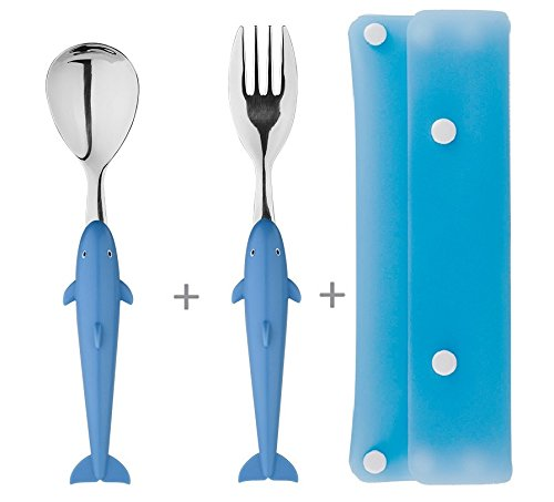 - CLSstar Small fish Spoon & Fork Case Set