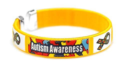 Autism Awareness Adult Bangle Bracelet In a Bag (1 Bracelet - Retail)