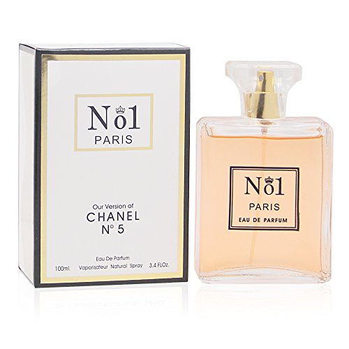 NUMBER 1 PARIS,Our Version of CHANEL NO.5, Eau de Parfum Spray for Women, Perfect Gift, Elegant, Night time & Casual Use, for all Skin Types, 3.4 Fl Oz