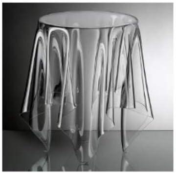 Beste Authentiek Essey Illusion Bijzettafel, handgemaakte salontafel, design bijzettafel, acryl, hoogte 44 cm, Ø 31 cm, transparant  Mujsa5V