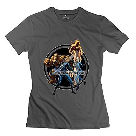 Women's Create My Own O Neck T Shirt/The Fantastic Four SkyBlue (Alex Hickman)