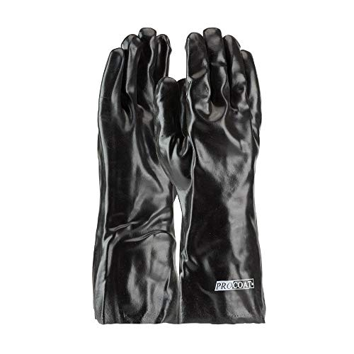 ProCoat 58-8040 PVC Dipped Glove with Interlock Liner and Smooth Finish, 14