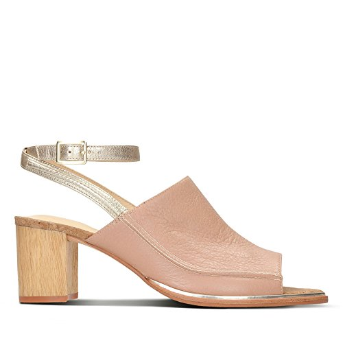 Clarks Ada Leather Combi in Metallic Ellis Sandals rZRpxwrq