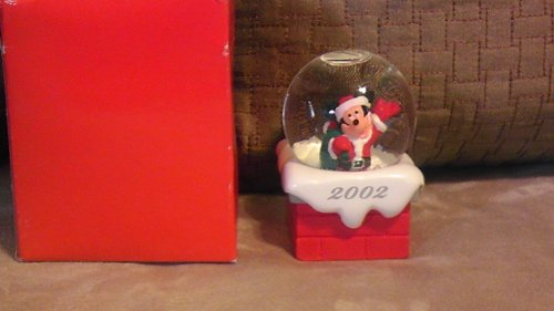 Disney Mickey Mouse 2002 Christmas Snowglobe from JC Penney
