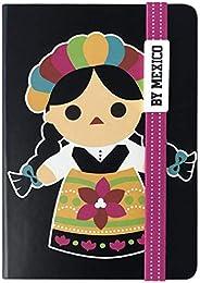 By Mexico Libreta modelo Muñeca Juanita Negro 80 hojas