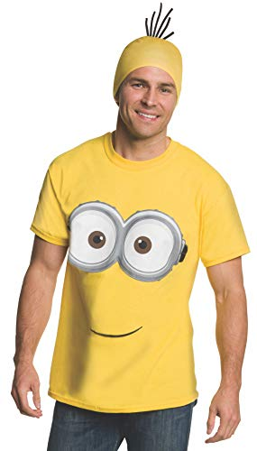 Rubie's Men's Minion Costume T-Shirt, Yellow, ()