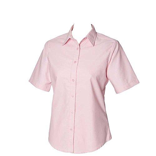 Short Sleeve Shirt Pink Womens Henbury Classic Oxford F0w5acqx
