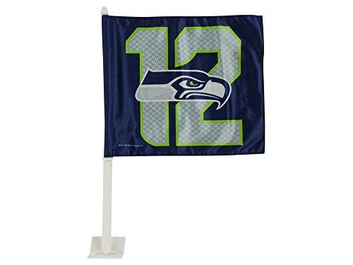 Seattle Seahawks 12th Man Car Flag