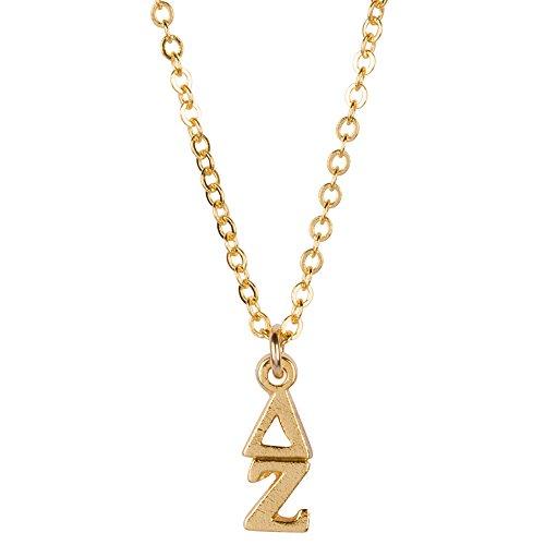 Greekgear Delta Zeta Gold Plated Lavaliere Necklace