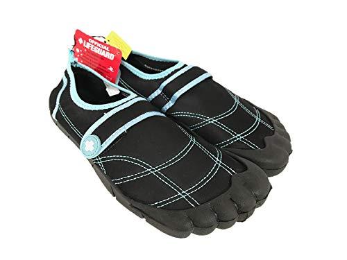 OFFICIAL LIFEGUARD Women's Activity Shoes - Black and Aqua (Size: M, 7/8)