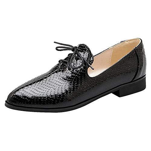 À Chaussures Lacets Coolcept Femmes Noir Casual qEnqYxt