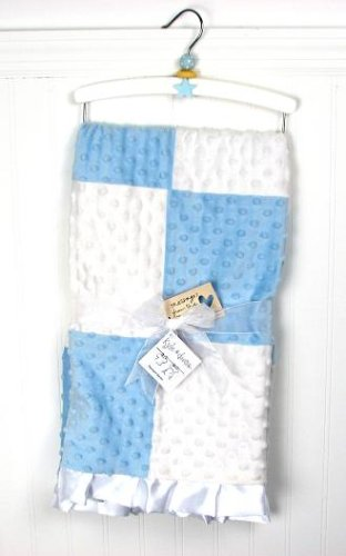 New Boutique Blue Boy Minky Dot Chenille Baby Blankets !