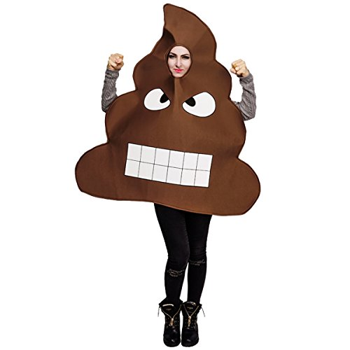 flatwhite Adult Unisex Emoticon Costumes Poop One Size