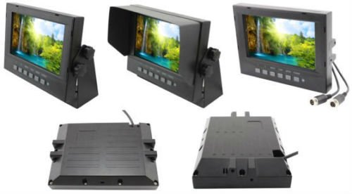 Accele LCDM7WPN WATERPROOF 7″ Widescreen Monitor w/2 Video Inputs, Tilt Stand & SunShade