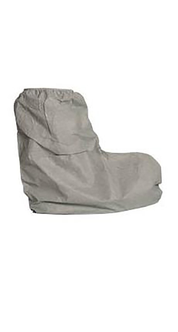 DuPont FC454SGY00010000 Tyvek 400 FC Boot Cover with Skid-Resistant Sole, 18'' High, Serged Seams, One Size, Gray (Pack of 100)