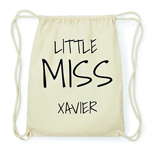 JOllify XAVIER Hipster Turnbeutel Tasche Rucksack aus Baumwolle - Farbe: natur Design: Little Miss