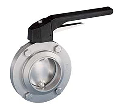 "Steel and Obrien BFVTW-2-316 Stainless Steel Weld Butterfly Valve, Trigger Handle, 2"" from Steel and Obrien"