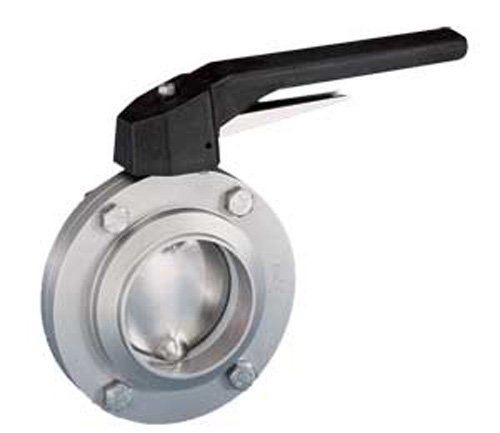 1-1//2 1-1//2 Steel and Obrien BFVTW-15-316 Stainless Steel Weld Butterfly Valve Trigger Handle