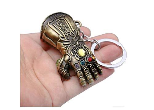 Avengers : Endgame Thanos Infinity Gauntlet金属钥匙扣玩具,三种颜色,2英寸 (古铜色)