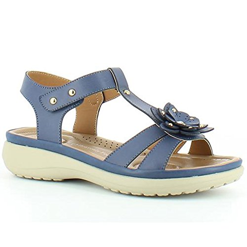 Heavenly Feet - Zapato casual, sin cordones, azul marino, para mujer Heavenly Feet - Talla 36 - Azul