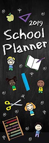 (2019 Slim Wall Calendar - School Planner Monthly Calendar, Academic Theme, Slimline Sized, 5.7 x 16.5 Inches)