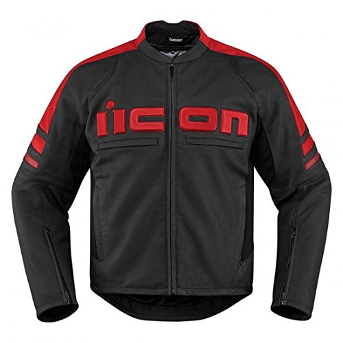 Icon Motorhead 2 Leather Jacket Red 2XL 2810-2855