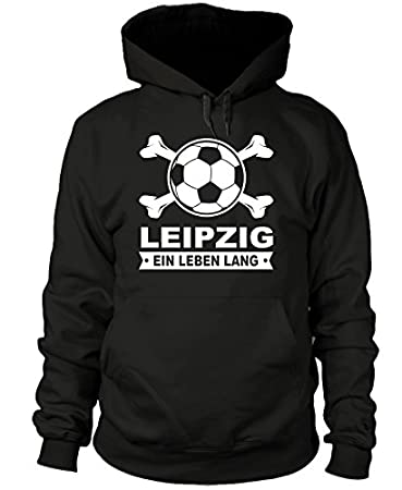Leipzig EIN Leben Lang shirtloge Gr/ö/ße S Fan-Kapuzenpullover 3XL