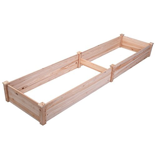 Giantex Wooden Raised Vegetable Garden Bed Elevated Planter Kit Grow Gardening Vegetable - Cedar Bed Garden Raised