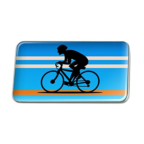 Road Bike Pin (Road Bike Cycling Biking Bicycle Metal Rectangle Lapel Hat Pin Tie Tack Pinback)