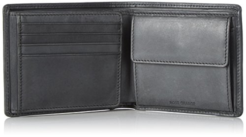BOSS Orange Herren Pulse_trifold Geldbörse, Schwarz (Black), 11x9.5x2 cm