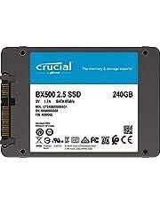 جهاز اس اس دي BX500 من كروشال بسعة تخزين 240 جيجابايت بكابل 2.5 ساتا 3.0، PN: CT240BX500SSD1