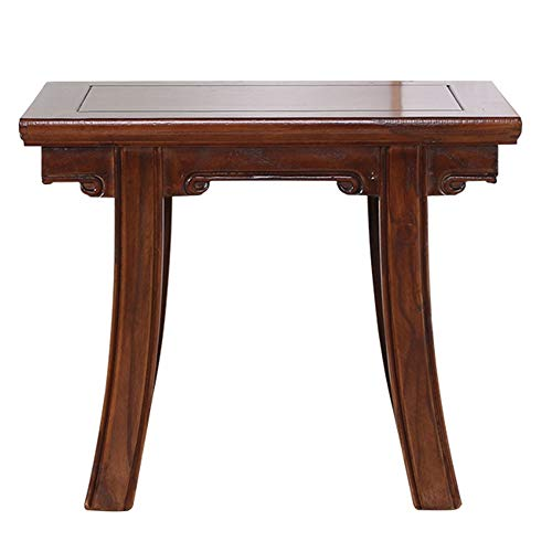 ZHAOYONGLI-stools, Seats Solid Wood Household Chinese Elm Stool Child Change Shoe Bench Antique Dressing Stool (Color : Walnut Color, Size : 483241cm)