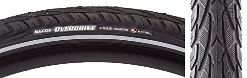 Maxxis Overdrive Tire 27.5 x 1.65, Single Compound, Reflective Sidewall, Steel Bead: Black