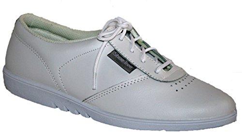 Zapatos de cordones para señora, piel suave de excelente calidad, se pueden lavar en la lavadora, 4 colores blanco