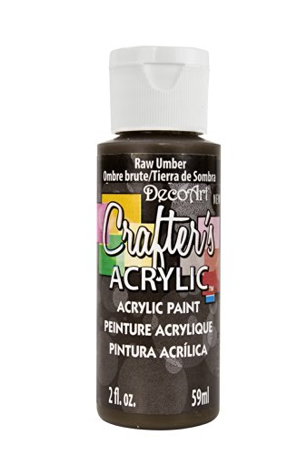 DecoArt Crafter's Acrylic Paint, 2-Ounce, Raw Umber