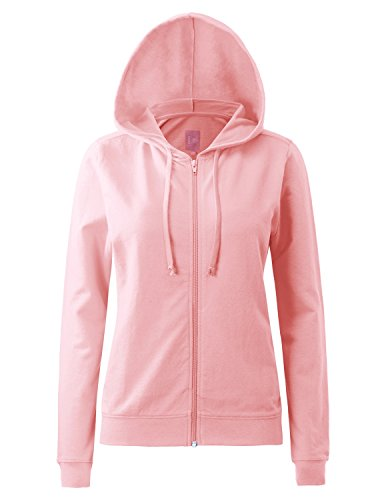 Regna X Womens Long Sleeve Comfy Warm Knitted Full Zip Hooded Sweatshirt ()