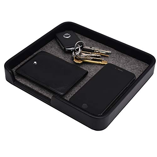 "Pocket Park - Wallet, Car Keys, Spare Change & Pocket Clutter Catchall Tidy Tray, 22x20cm, Black - CEG-40 by Connected Essentials (Pocket Park 8.6"" x 9.0"")"