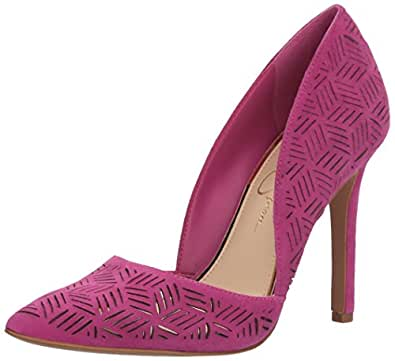 Jessica Simpson Women's Charie Pump, Polished Pink, 5.5 Medium US