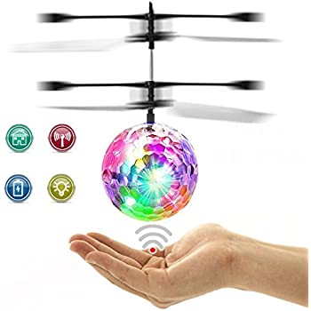 RC Flying Ball, Fansidi Newest Helicopter Ball Infrared Induction Flying  Toys With Colorful LED Shinning Lights RC Toys For Kids, Teens, Best Gifts  Choices ...