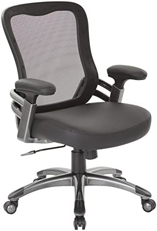 Office Star Breathable Mesh Back and Padded Faux Leather Seat Manager s Chair