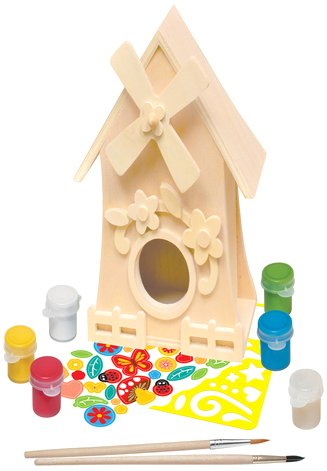 Mill Birdhouse - MasterPieces Works of Ahhh Windmill Birdhouse Large Wood Paint Kit