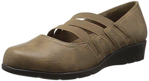 Easy Street Frauen Flache Schuhe Stone
