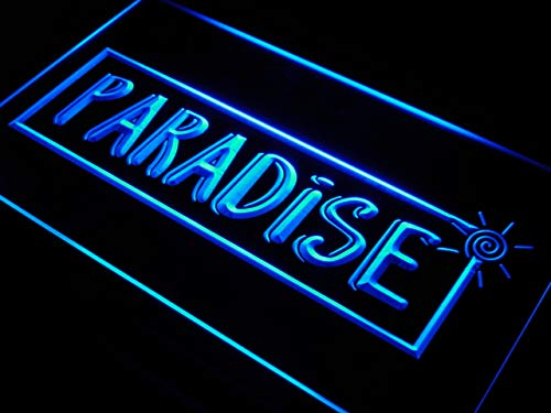 ADVPRO Cartel Luminoso s111-b Tropical Paradise Beach Bar ...