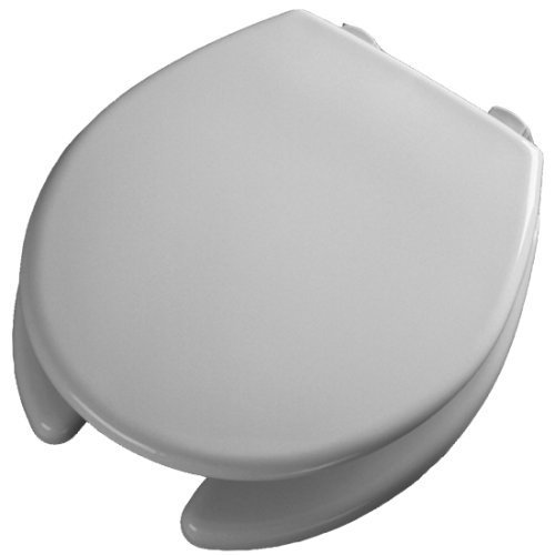 Bemis 2L2050T 000 Medic-Aid Plastic Raised Open Front Toilet Seat and Cover with 2-Inch Lift, Round, White by Bemis