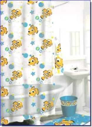 Finding Nemo Vinyl Shower Curtain Amazoncouk Kitchen Home