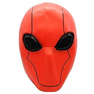 Red Mask Deluxe Full Face Mask Adult Halloween Cosplay Costume Accessory